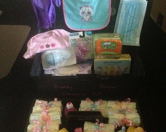 Daddy Diaper Changing Kit - Baby Shower Gift - Father-to-be