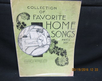 Collection of Favorite Home Songs - Sheet Music