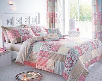 Morroccan inspired Shantar patchwork Shabby Chic duvet sets