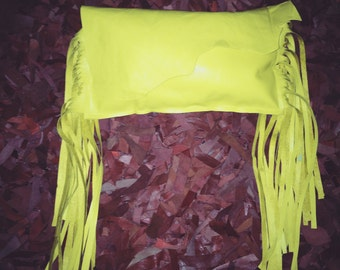 Sunshine Fringed Leather Clutch