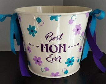 5 Quart Personalized Bucket / Mother's Day / Beverage Pail / Gift Basket