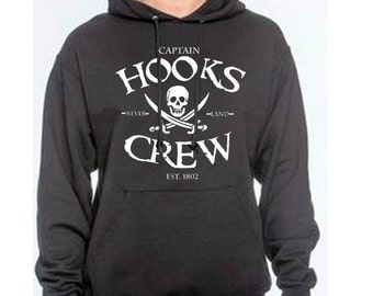 Unisex Disney Hoodie  Captain Hooks Crew hoodie Peter Pan hoodie Captain Hook Hoodie Disneyland Disney World shirt Magic Kingdom