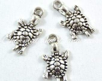 10 pewter Turtle charms (CM109)
