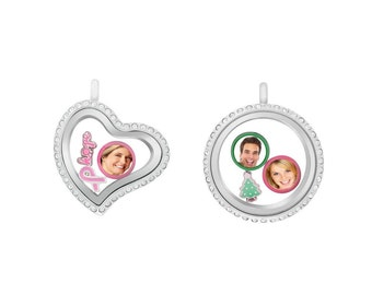 Love locket with photo charms