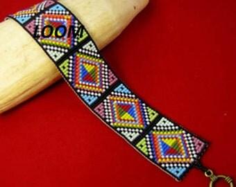Beadbrickie DIAMOND RAINBOW Loom Bracelet Pattern