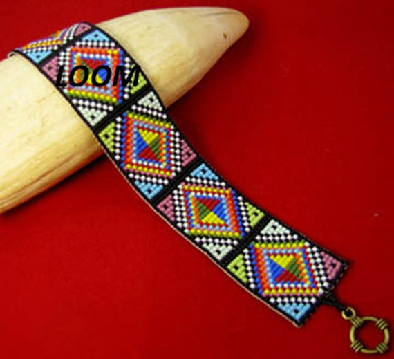 Rainbow Loom Patterns Diamond Beadbrickie DIAMOND RA...