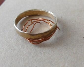 Brushed brass ring