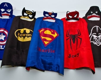 Personalized Super Hero Cape!! Batman,  Batgirl, Superman and MORE