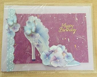 Birthday shoe card