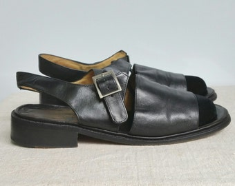 Paraboot Sandals woman smooth leather black size 7.5 UK / 41 FR / 9 US tbe