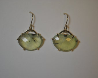 14k Prehnite Earrings