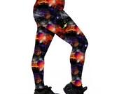 Planet Space Cadet Leggings. Leggings. Yoga Leggings. Roller Derby Leggings. Galaxy Leggings. Space Leggings. Fitness Leggings. Planets