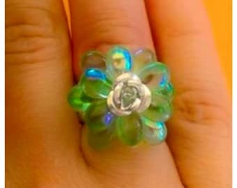 Rings drop and flower