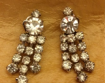 Vintage costume jewelry earrings