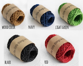 20 YRD color paper string, paper twine, gift packaging, box decorating, twine, color paper string, color paper twine, craft supplies