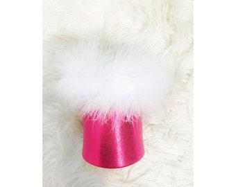 Pink Metallic can holder