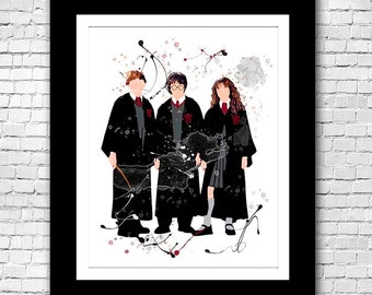 Harry Potter Hermione and Ron in Uniform