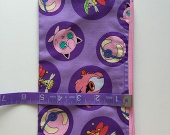 Pink Pokemon zip pouch, small