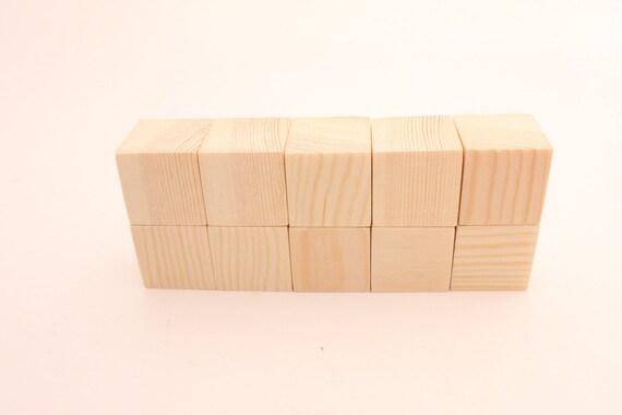 set of 10 pine wooden blocks 1 1 2 inch 3 9cm unfinished wood blocks natural blocks. Black Bedroom Furniture Sets. Home Design Ideas