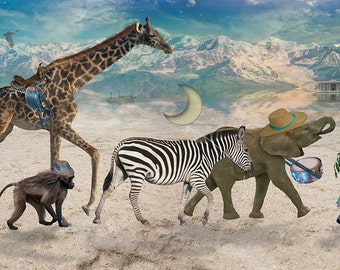 Whimsical African Animals