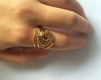 Brass Intrigue  rings - size 8