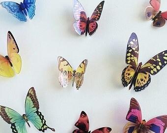 3D Wall Butterflies - 12 Mix Butterfly Silhouettes, Nursery Decor, Home Decor, Wedding