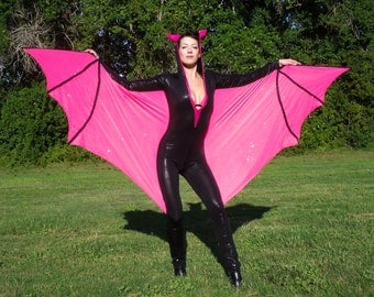 Pink Bat Costume, Luxury, Halloween Costume, Halloween Bat, Cosplay Costume, Batgirl Costume, Batwoman Costume, Pink Bat Wings, Gift for Her