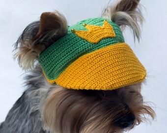 Dog's cap Crown/ Baseball Cap for dog / Dog Sun Hat / Dog Party Hats / Dog Top Hat / Puppy Hat / Dog Visor / Dog Beanies / Crochet Dog Hat
