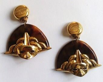 Earrings clip Sidney Carron Vintage 80 s
