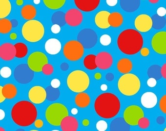 Blue Dots Cotton Fabric from the Jesus Loves Me Collection by Sharyn Sowell for Henry Glass Fabrics