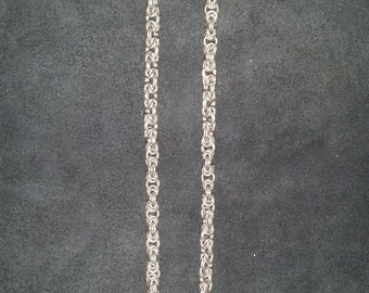 Byzantine chain in 18ga - Stainless Steel