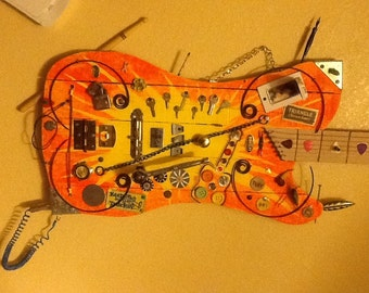 Mixed Media Wall Art Guitar