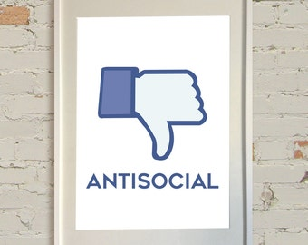 Antisocial A4 Poster