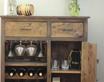 Custom Made Wine Rack / Dry Bar