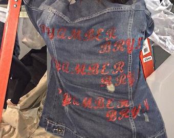BYAMBERBRYN Logo Jean Jacket