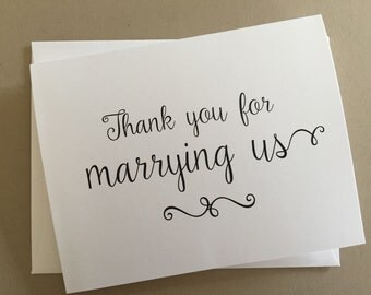 Thank you for marrying us card,Priest Thank you card,Minister Thank you card,A2 Wedding Day Cards(WDC-PR01)