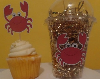 Crab Nautical Favor/Party Cups