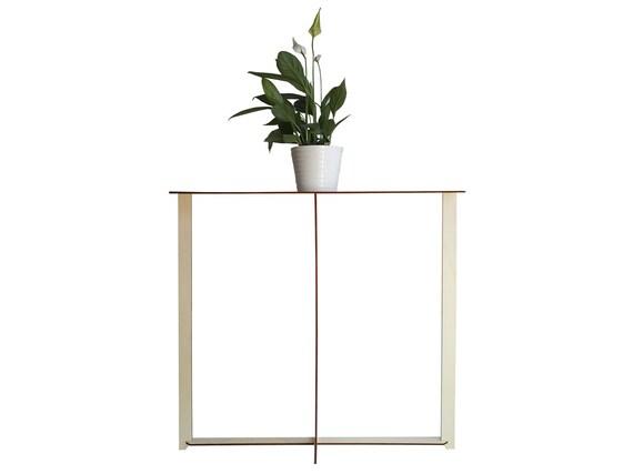 D coup au laser petite table en bois mince table dentr e - Petite table d entree ...