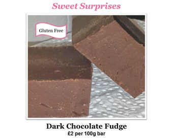 Dark Chocolate Fudge GLUTEN FREE - Straight from the Kitchen!
