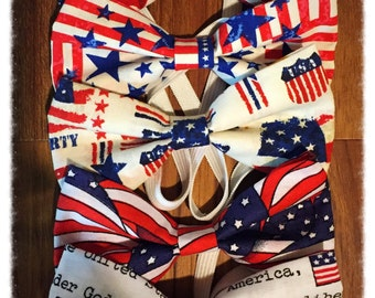 Patriotic bowties for boys, Memorial Day Bowties, July 4th Bowties, Matching Bowties