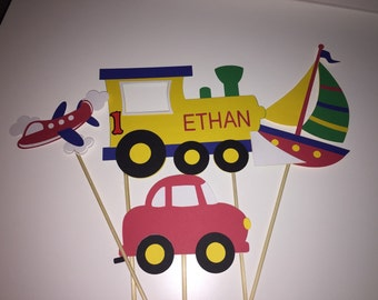 Plane/Train/Car/Boat Cake Toppers