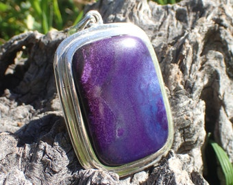 Sugilite and Sterling Silver Pendant