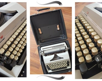 VINTAGE portable typewriter SCHEIDEGGER, retro