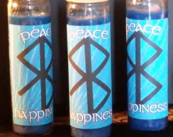Peace and Happiness 7 Day Fixed and Charged Candle