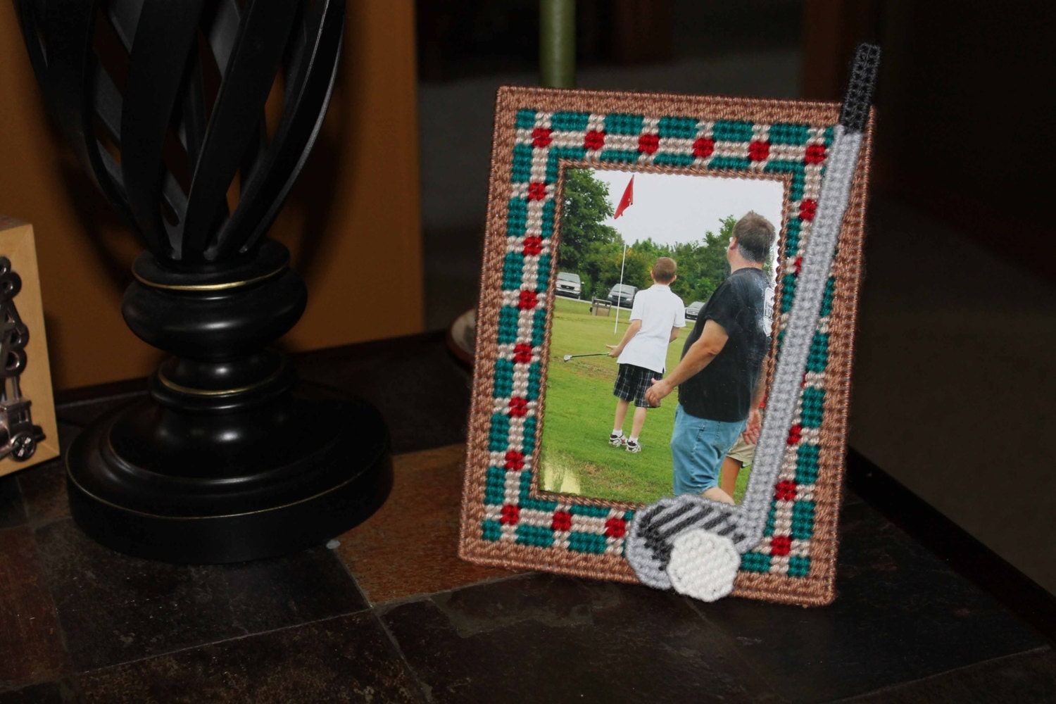 Golf picture frame gift golf enthusiast home Golf decor for home