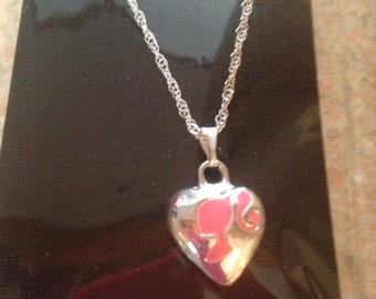 Heart Shape Barbie Silhouette style Necklace