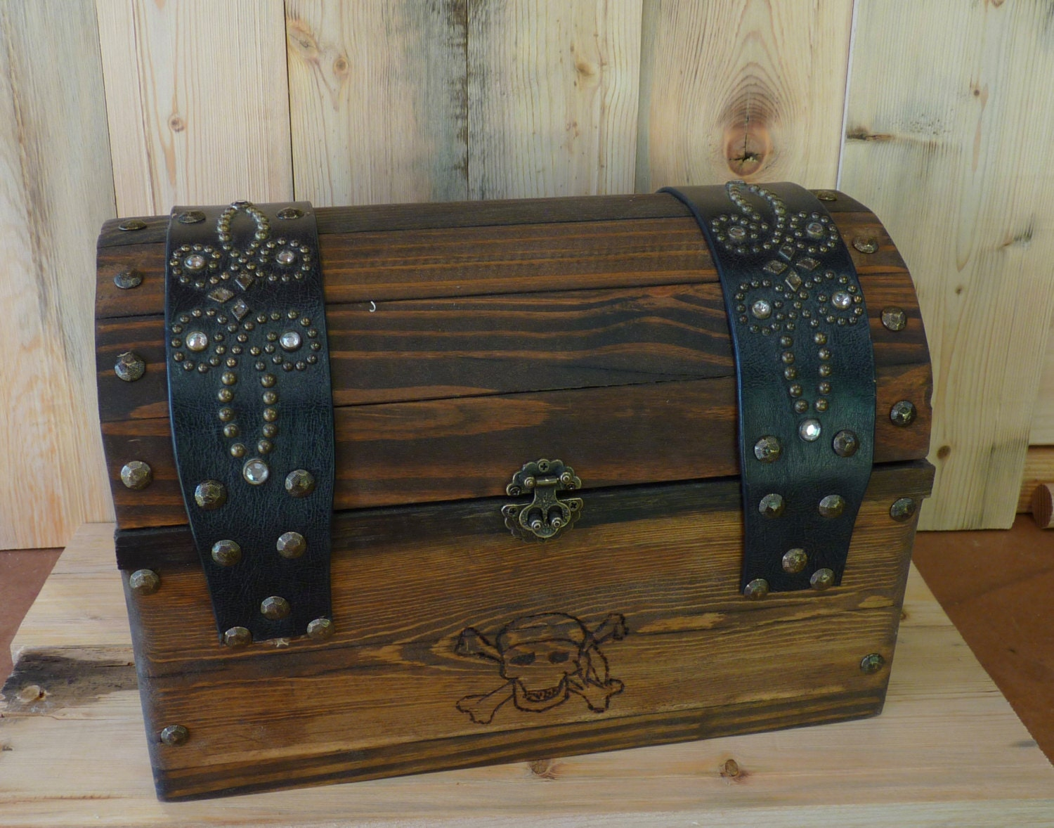 Wood Pirate Chest ~ Real wooden pirate s treasure chest
