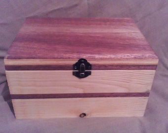 pine wood box and sipo