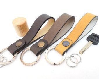 Leather key fob, leather Keychain, Keychain, key organizer, key holder, key chain