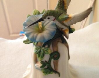 Decorative Porcelain Humminbird Bell